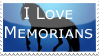 I love Memorians stamp by Hippie30199