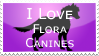 Flora Canine Stamp by Hippie30199