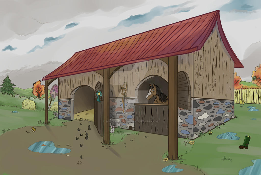 Horse Stable by melaniehitomi