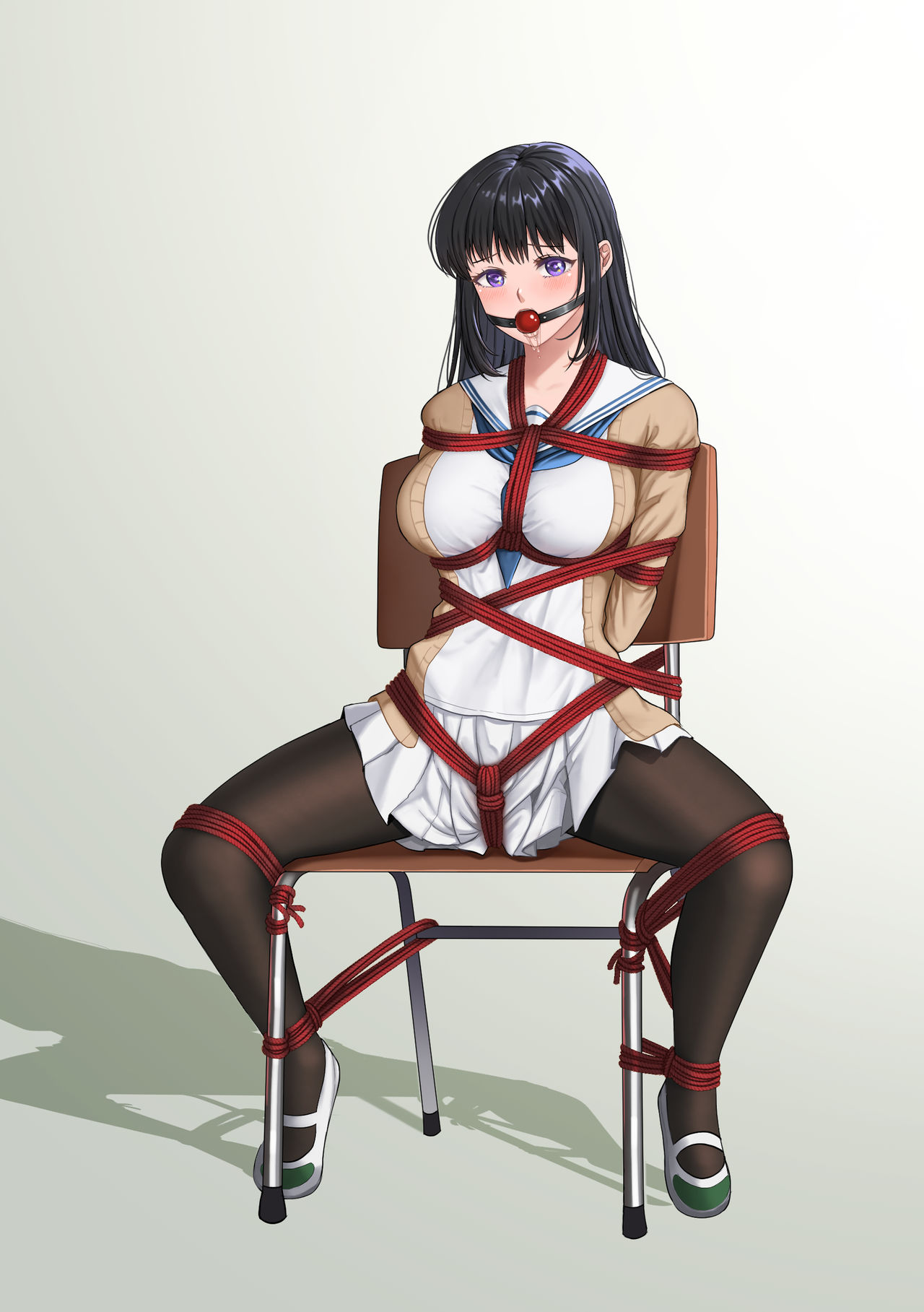 Girl in bondage chair Cm Cute Girl Bondage With A Chair By Huieiina On Deviantart