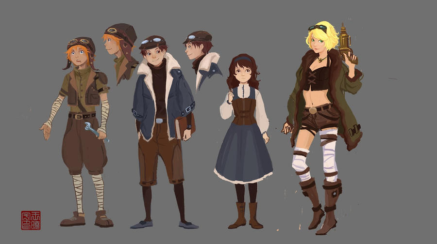 Character N Design : Steam punk character design by point on deviantart