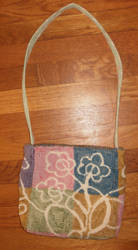 Deco Floral Purse by threehollys