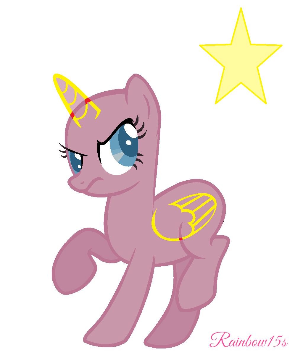 Mlp Fim Alicorn Base 2 By On Deviantart Endear Mlp ... Mlp Stallion Alicorn Base