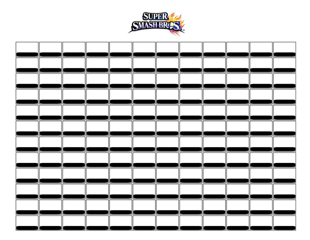 Super Smash Bros Blank Roster by Dysartist on DeviantArt