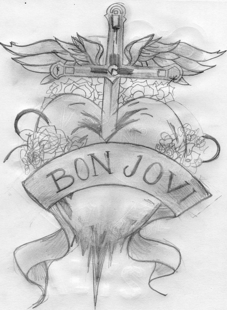 bon jovi tattoo design by mizz4getful on deviantart. Black Bedroom Furniture Sets. Home Design Ideas