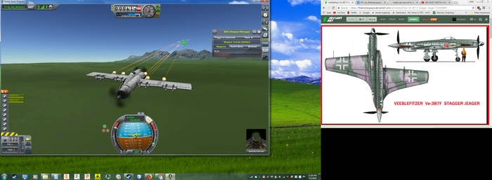 KSP Mock-up of the Ve-387 F Stagger Jeager