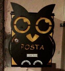 Owl Postbox by phoebez