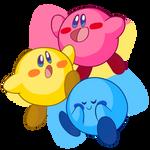 a whole pan full of Kirbys