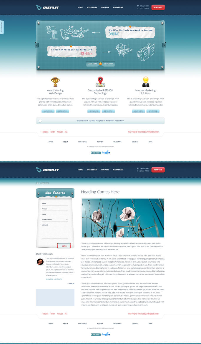 Displet webdesign revamp by bilalm