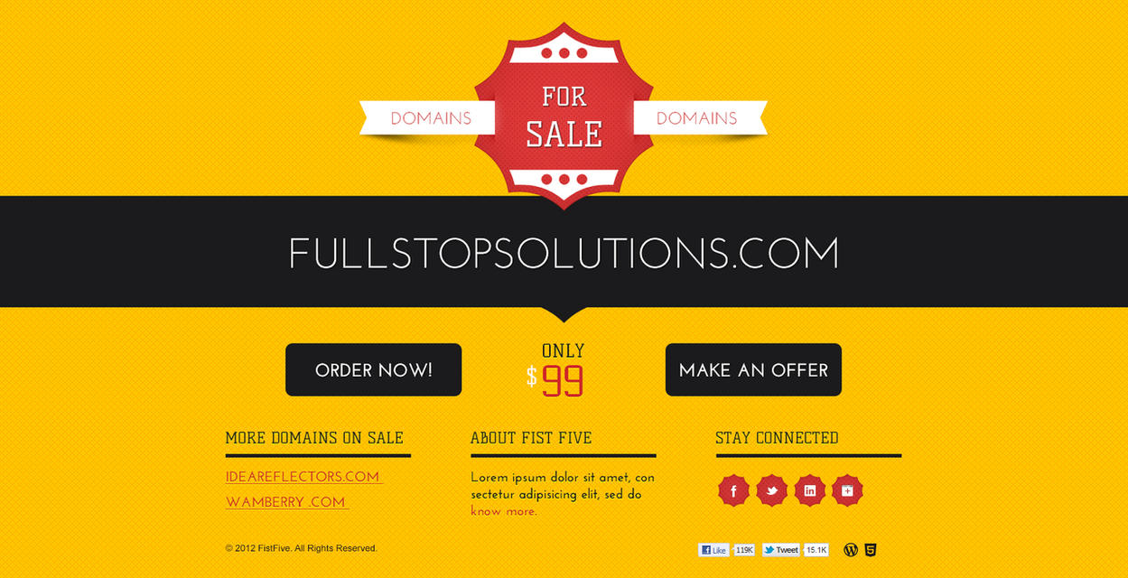 Domain For Sale Template by bilalm