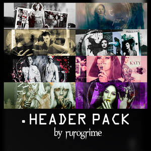 Header Pack by rurogrime