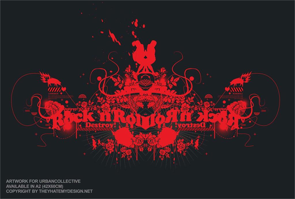 destroy rock n roll by loveisickprojekt