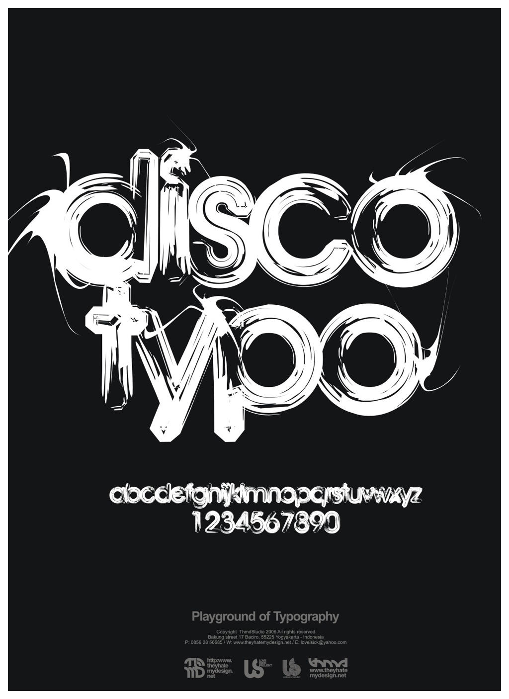 playground of typography by loveisickprojekt