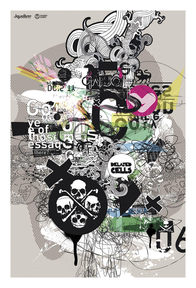 UNITED OF SKULLS POSTER by loveisickprojekt