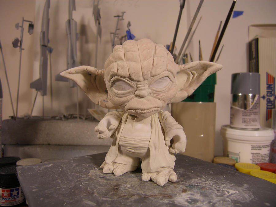 Yoda munny WIP by AceofSpades56