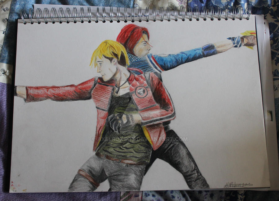 Mikey and Gerard by Axelroxsox