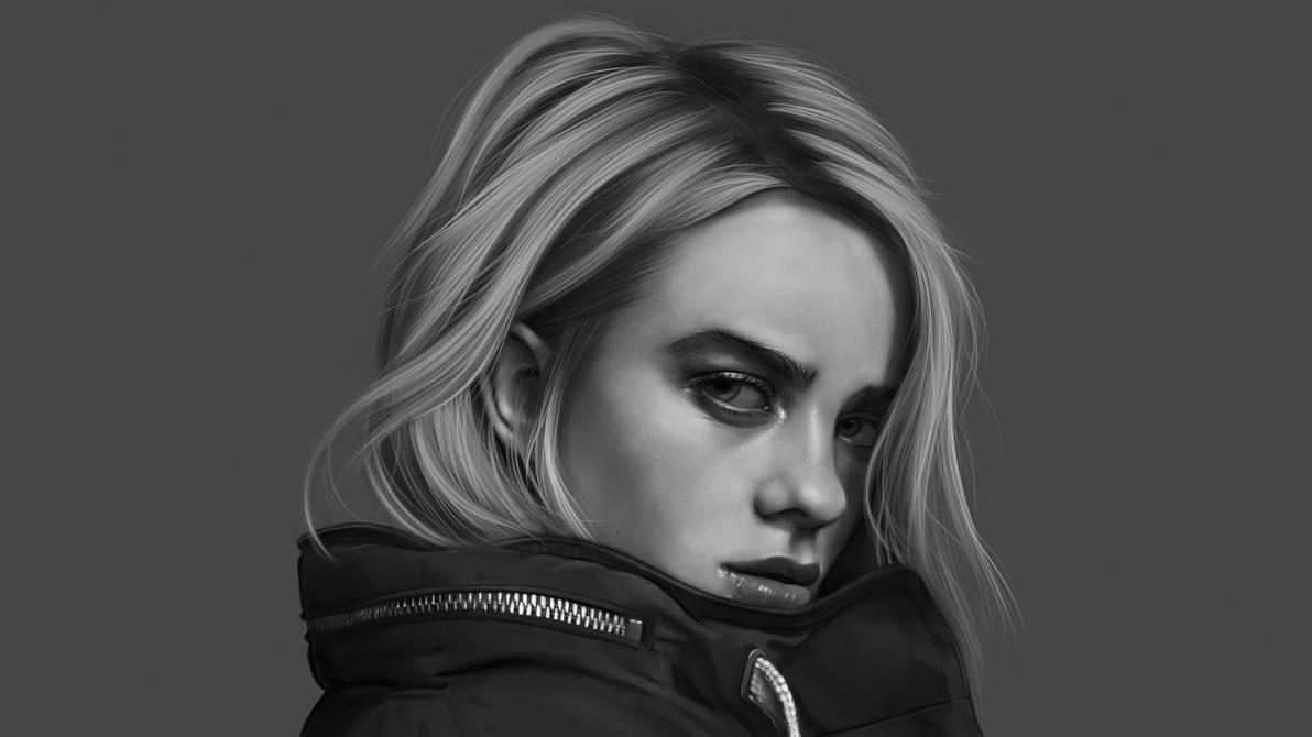 Billie Eilish Procreate Portrait