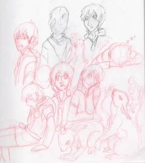 Cenric's  Birthday sketches