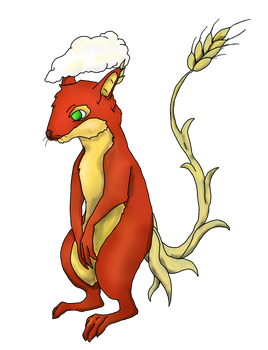 Cenric The Red Barley Squirrel
