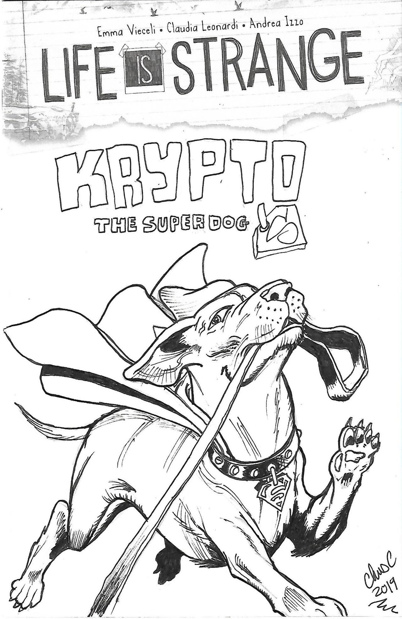 Krypto The Superdog Inked
