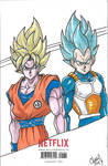 Goku,Vegeta Colour by ChrisMilesC