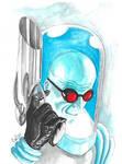 Mr Freeze after Alex Ross (Watercolours)  by ChrisMilesC