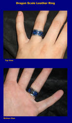 Leather Ring-Dragon Scale by wolfsax