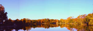 Eau Reservoir: Autumn Panorama by ferrhousulfate