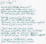 Whipple Sonnet 1: Why