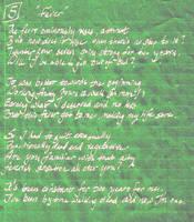 Whipple Sonnet 5: Fever by ferrhousulfate