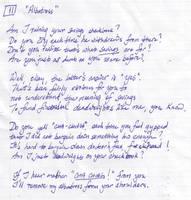 Whipple Sonnet 11: Albatross by ferrhousulfate