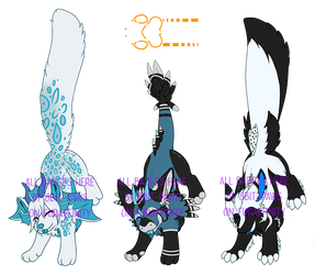 A trio of Hanging By A Tail 8bit-paws