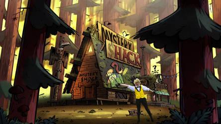 Bill in the Mystery Shack by Azumi-neko