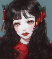 Christmas doll by renaillusion