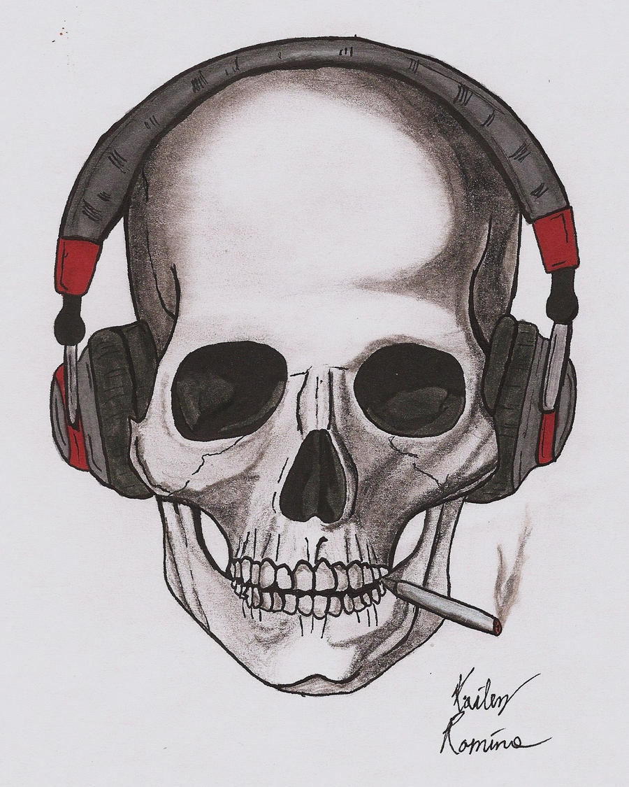 Smoking Skull by Crimson-Spectra on DeviantArt