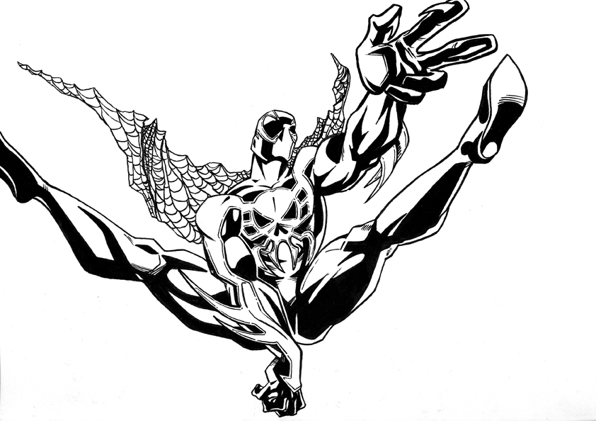 cosmic spiderman coloring pages - photo#23