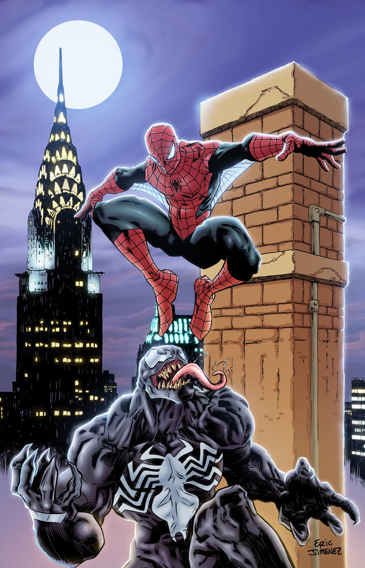 Spider-Man and Venom in COLOR by ejimenez