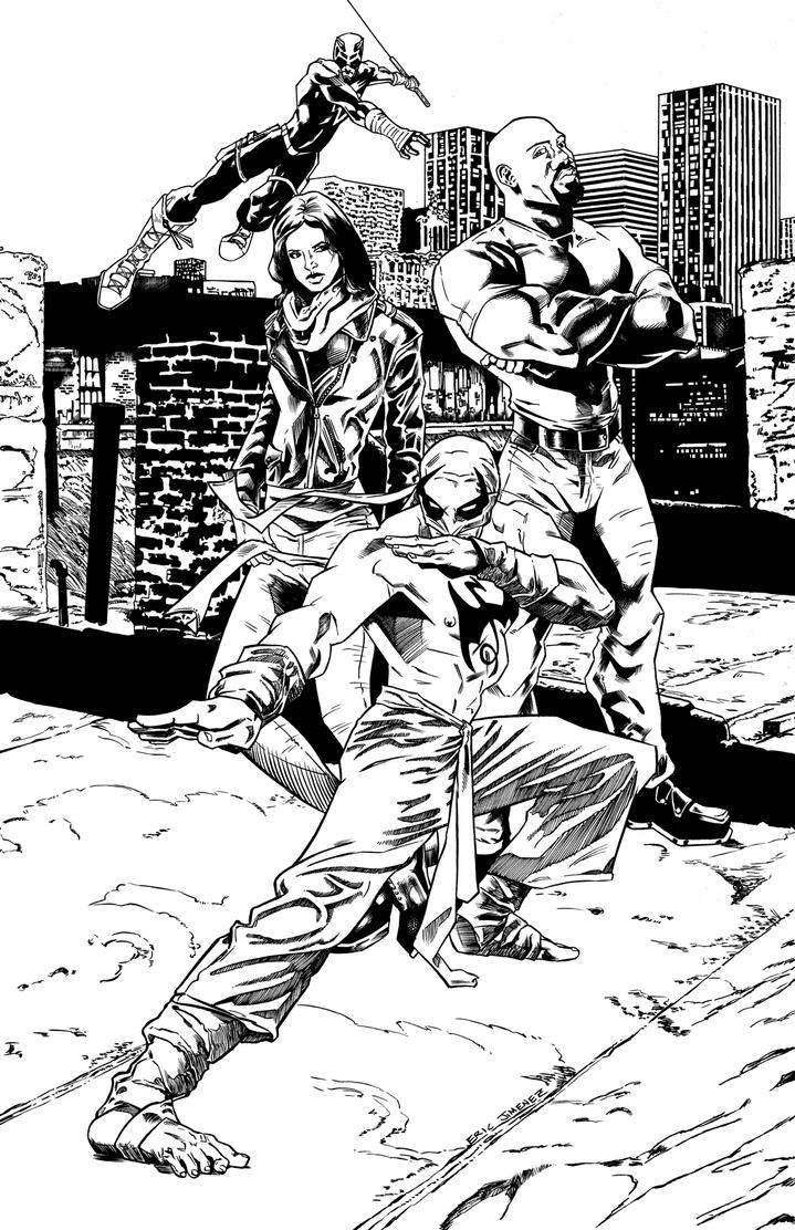 Defenders inks by ejimenez