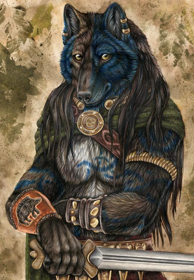 Woad Warrior by Qzurr