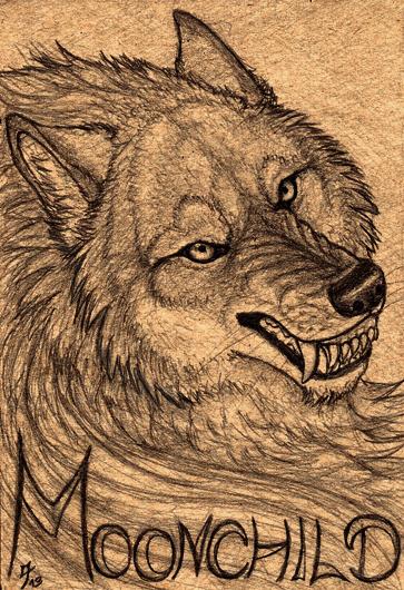 Werewolf badge by Qzurr