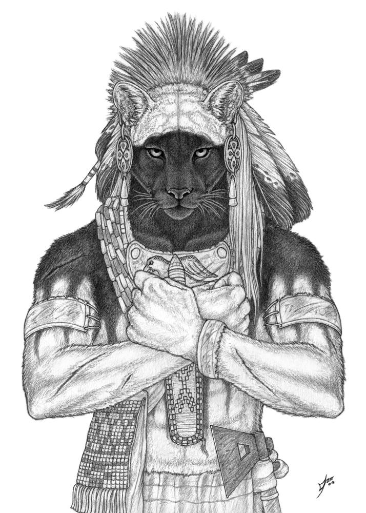 Huron Warrior by Qzurr