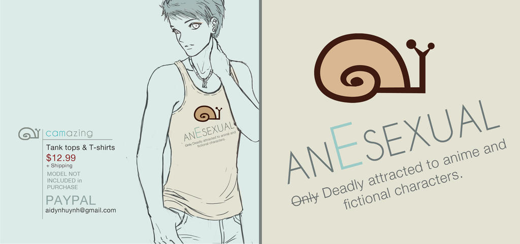 AnEsexual T-shirt by SnaiLords