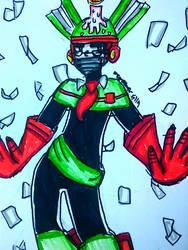 Page Man (Robot Master OC) [Mega Man] by DoughnutDoggy