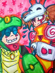 Friendly Friends [Mega Man] by DoughnutDoggy