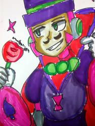 Debonair Calloway [Mega Man X] (Art Trade) by DoughnutDoggy