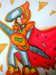 Crash Man [Mega Man 2] by DoughnutDoggy