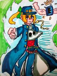 Rolltaro Kujo [Mega Man] by DoughnutDoggy