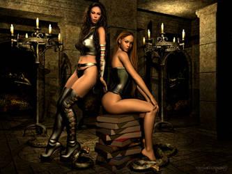 Jezebel and Georgina by RainfeatherPearl