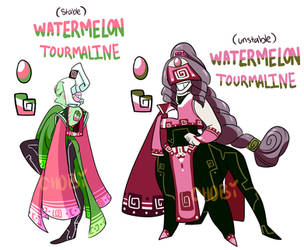 ::Fusion:: Watermelon Tourmaline by ChobiLuck