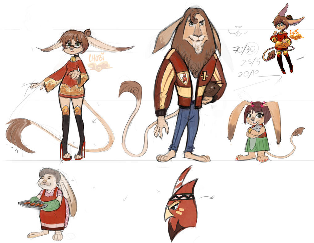 Character Design Art Institute : Bunion family concept by chobiluck on deviantart